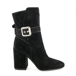 Vince Camuto 'Damefaris' black buckle strap bootie